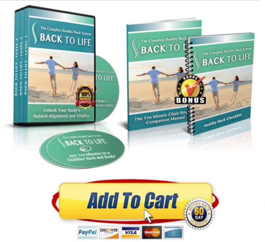 Buy Back to life Erase my back pain